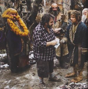 Peter Jackson on the set of the next Hobbit film