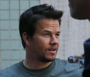 Mark Wahlberg on the Transformers 4 set