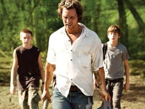 Matthew McConaughey and the kids walking around