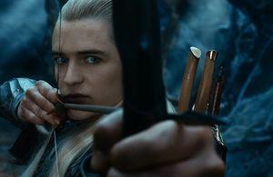 Orlando Bloom close-up in the second Hobbit film