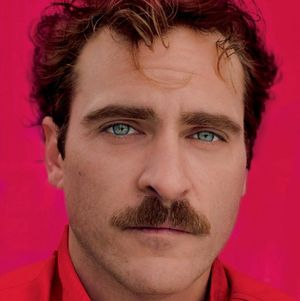 Joaquin Phoenix in pinkish red