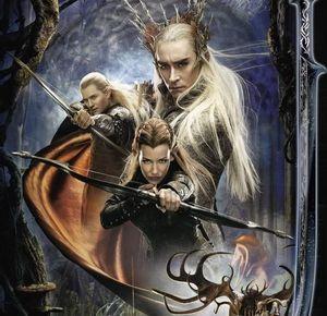 Thranduil, Tauriel and Legolas poster art