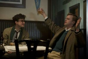 Daniel Radcliffe and Dane DeHaan have a drink in the 1944 dr