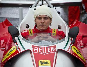 Daniel Brühl in the Ferrari cockpit