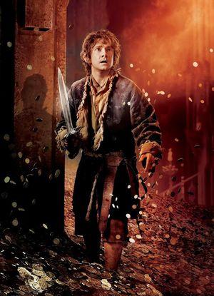 Bilbo Baggins between coins
