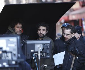 Ethan and Joel Coen on the set of Inside Llewyn Davis