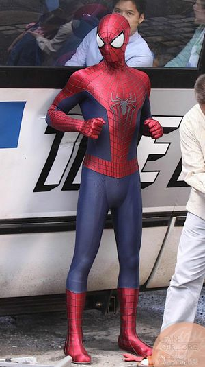On the set of The Amazing Spider-Man 2