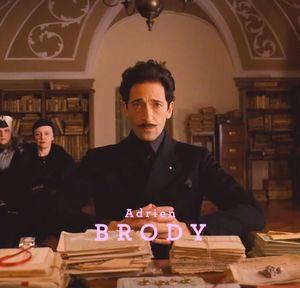 Adrien Brody, The Grand Budapest Hotel