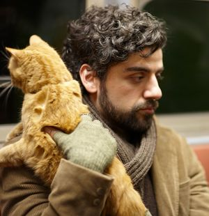 Llewyn Davis with cat