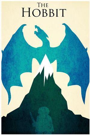 Blue minimalistic Hobbit poster art