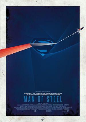 Minimal Poster: Man Of Steel