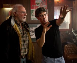 Alexander Payne on the set of Nebraska