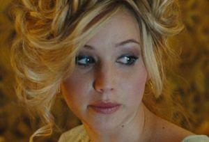 Jennifer Lawrence with too much make-up