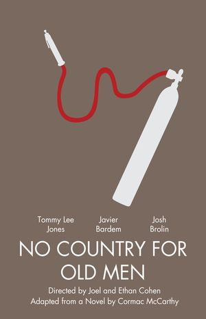 Minimal Poster: No Country For Old Men