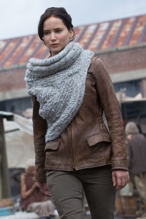 Fancy scarf in Hunger Games: Catching Fire