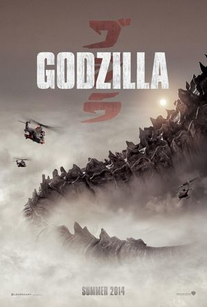 Teaser poster for the upcoming Godzilla