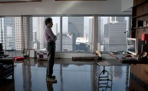 Joaquin Phoenix in his fancy apartment