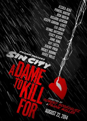 Sin City: A Dame To Kill For Poster Art