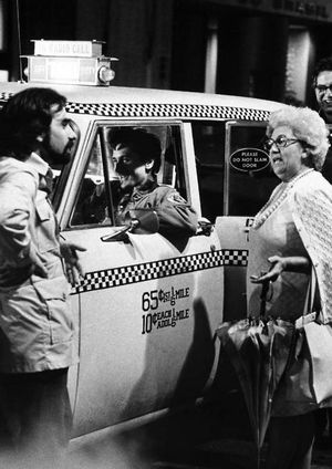 Scorsese & DeNiro on Taxi Driver set with Scorsese's mother