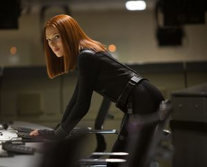 Scarlett Johansson as Black Widow in Captain America 2