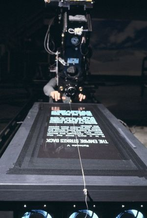 The Empire Strikes Back – filming the Crawl.