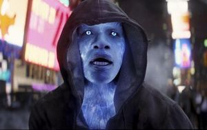 Jamie Foxx in blue as Electro