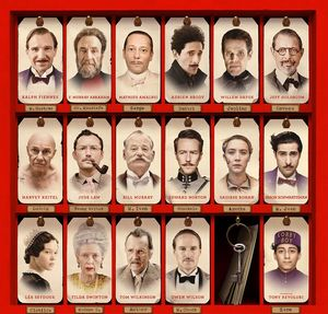 The Grand Budapest Hotel cast overview poster