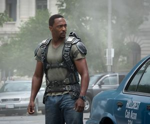 Anthony Mackie as The Falcon in Captain America 2