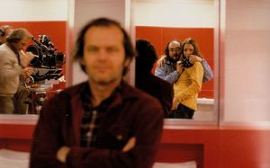Self portrait of Stanley Kubrick with his daughter, Jack Nic