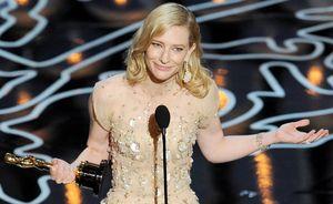 Cate Blanchett giving her Oscars winning speech