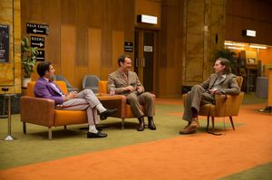Anderson, Law and Schwartzman relaxed on set