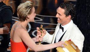 Matthew McConaughey accepting his Best Actor Oscar