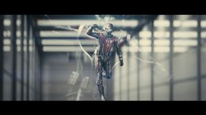 Ant-Man running in his full costume