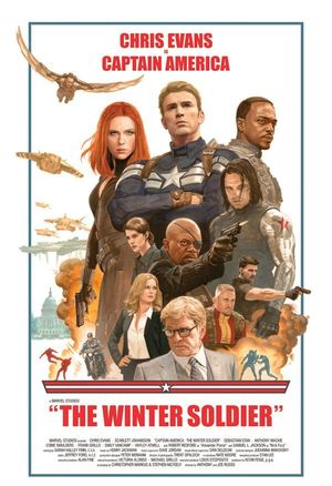 Old School Poster for Captain America: The Winter Soldier