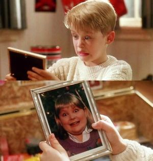The picture of Buzz's girlfriend in Home Alone, is actually