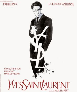 Yves Saint Laurent clean white poster