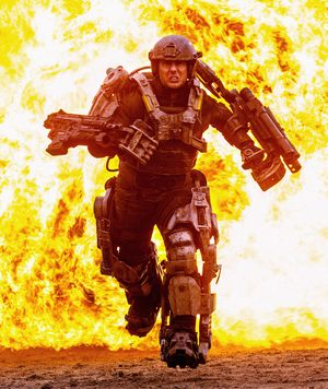Tom Cruise extremely on fire, Edge of Tomorrow