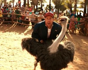 Adam Sandler and ostrich in Blended