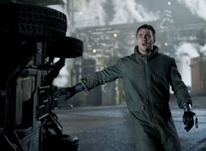 Aaron Taylor-Johnson as Ford Brody impressed by Godzilla