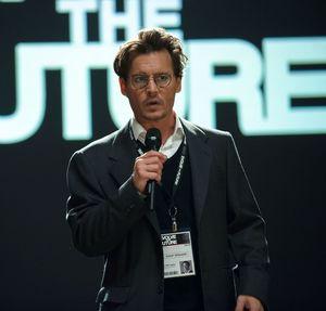 Johnny Depp as scientist Will Caster