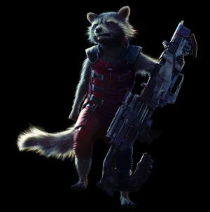 Bradley Cooper as Rocket Raccoon character