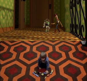 Sid's carpet in Toy Story is a homage to the carpet in Stanl