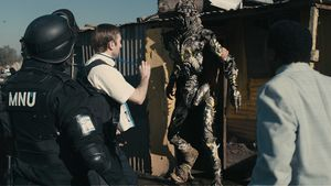 The alien language in District 9 was created by rubbing a pu