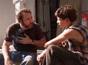 Nicolas Cage and Tye Sheridan hang out