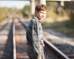 Tye Sheridan on the track