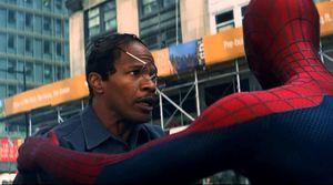 Jamie Foxx, messed up glasses, The Amazing Spider-Man 2