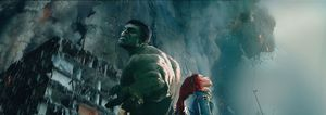 The Hulk and Scarlet Witch