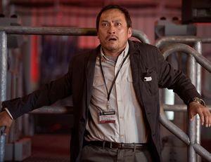 Ken Watanabe overwhelmed in Godzilla