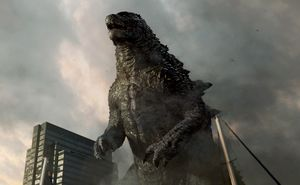 Godzilla full frontal, destructing the city