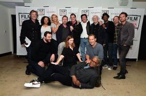 The essemble cast of The Hateful Eight